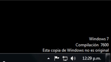 Mensaje windows 7 no original